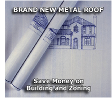 BRAND NEW METAL ROOF